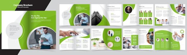 Корпоративный шаблон брошюры Premium векторы