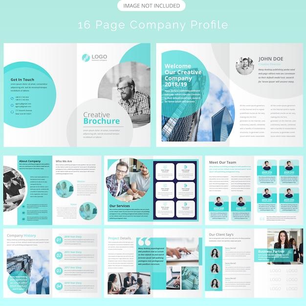 ページパンフレットのテンプレートデザイン Premiumベクター