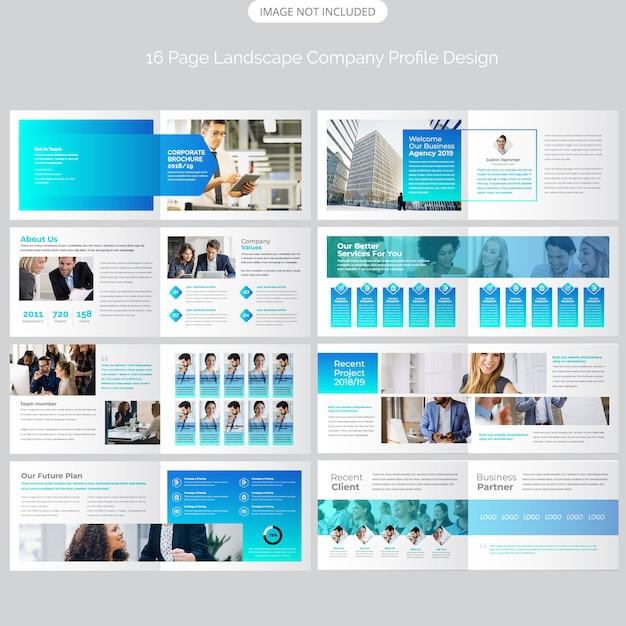 Брошюра ландшафтная компания дизайн Premium векторы