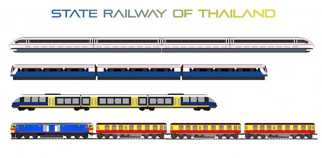Скоростной поезд вектор Premium векторы