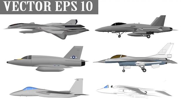 ジェット機と兵士のための軍艦 Premiumベクター