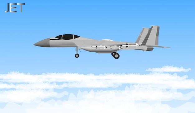 Реактивные самолеты и военные корабли для солдат Premium векторы