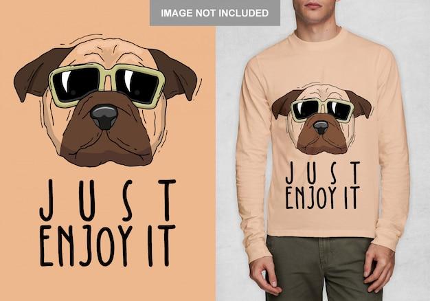 Просто наслаждайтесь этим, типография футболки дизайн вектор Premium векторы