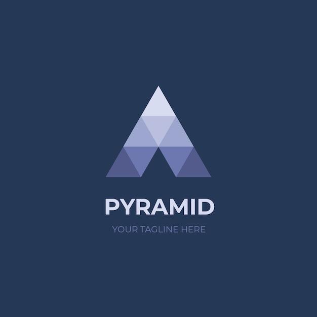 ピラミッドロゴ Premiumベクター