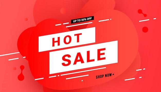 熱い販売バナー Premiumベクター