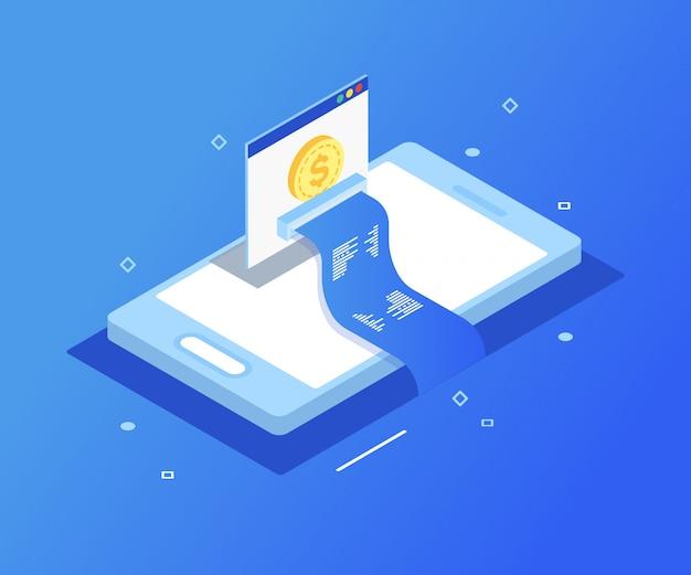 支払いオンライン電子、スマートフォンによる支払い。 Premiumベクター