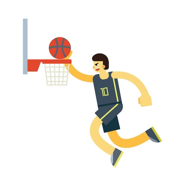 バスケットボール選手キャラクターベクトル Premiumベクター