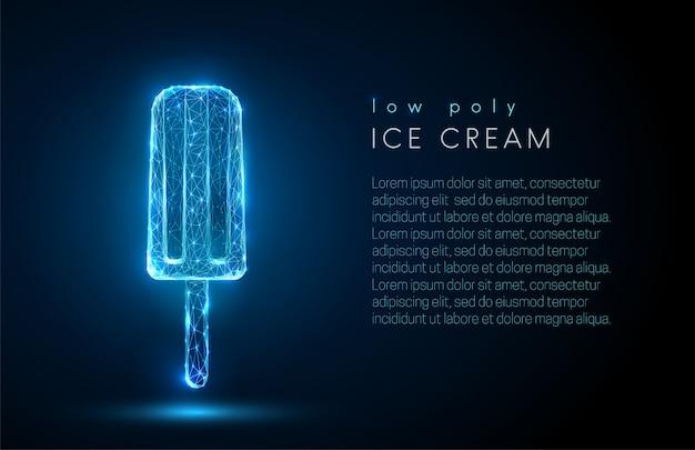 低ポリ抽象アイスクリーム Premiumベクター
