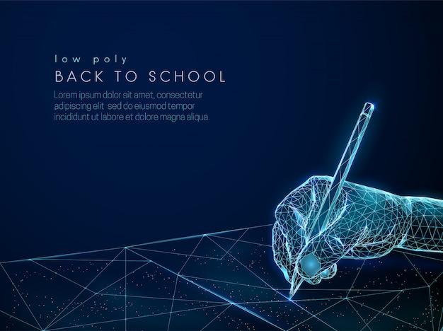 Абстрактный ребенок почерк с карандашом баннер Premium векторы