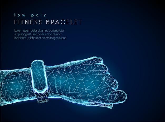 男性の手に抽象的なスポーツフィットネススマートな時計 Premiumベクター