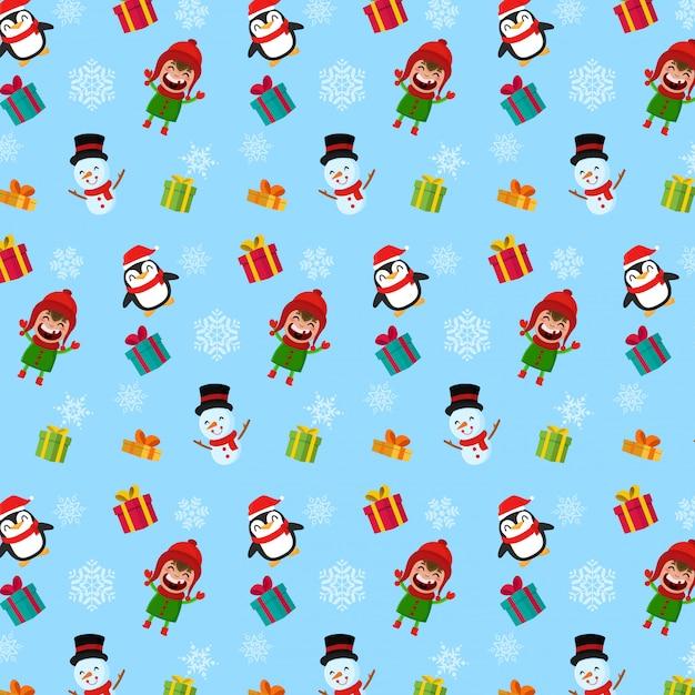 クリスマスパターン Premiumベクター