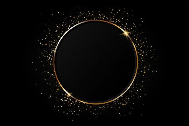 Золотой круг абстрактный фон. Premium векторы