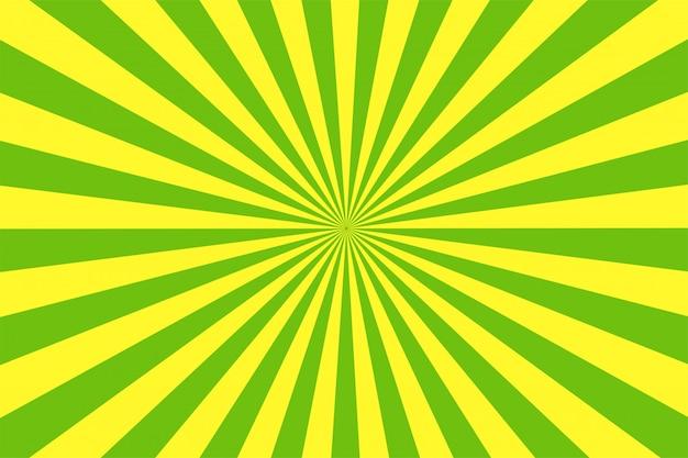 Мультяшный стиль зеленый и желтый фон. Premium векторы