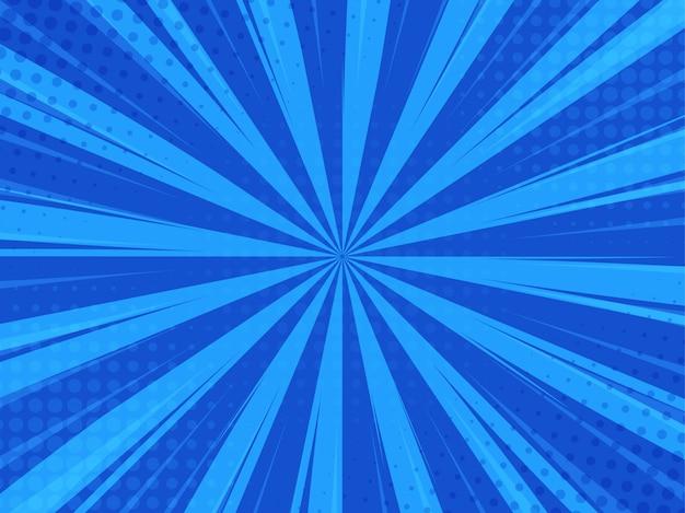 Синий абстрактный комикс мультфильм солнечный свет фон. Premium векторы