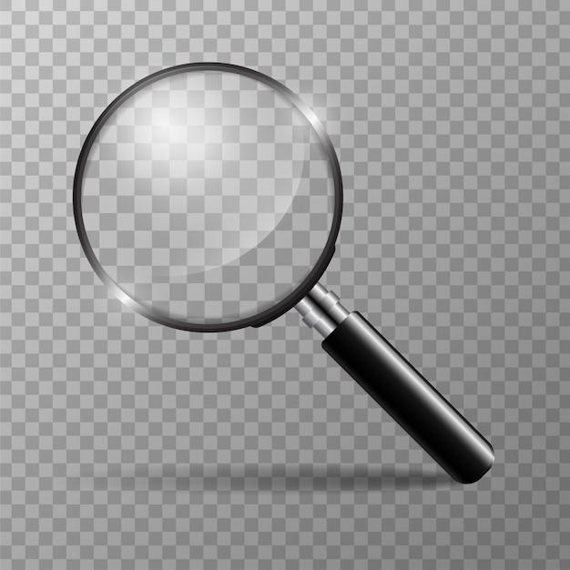 Концепция увеличительного стекла для поиска людей для работы в организации Premium векторы