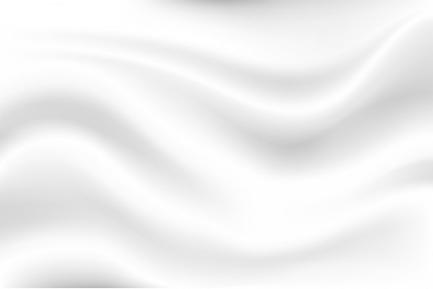 ミルクの白い波の背景は、揺れる白い布のように柔らかく見えます。 Premiumベクター