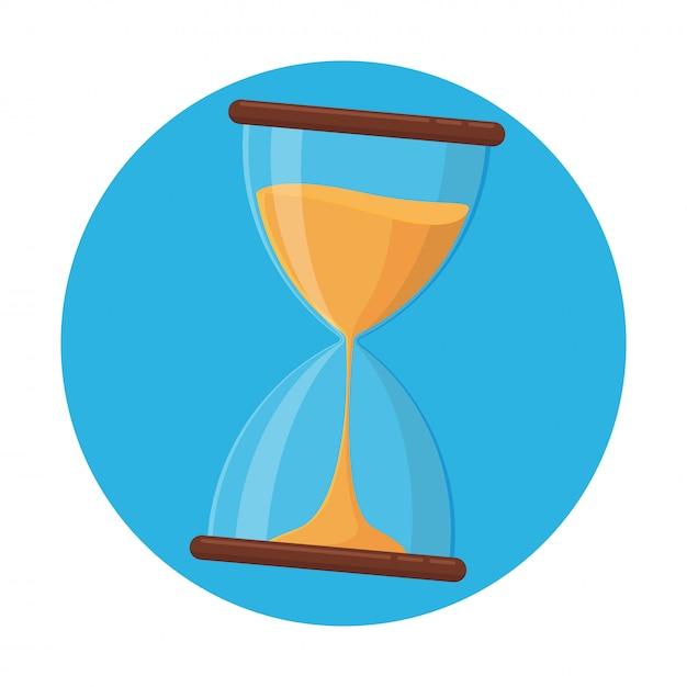 Значок песочных часов, вектор песочных часов, который вот-вот закончится Premium векторы