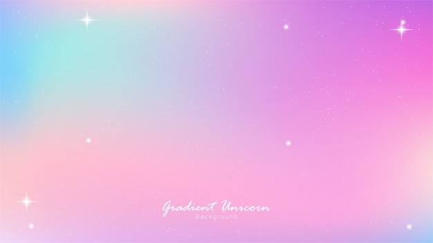 ユニコーンスカイカラフルグラデーション Premiumベクター
