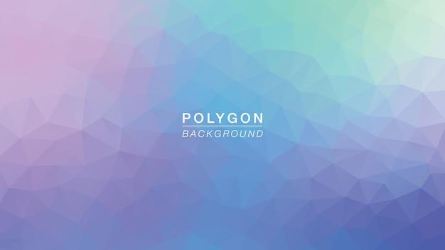 ポリゴンパープルグリーングロー Premiumベクター