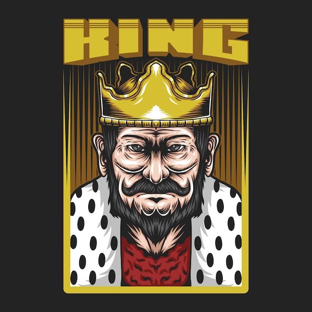Иллюстрация короля человека Premium векторы