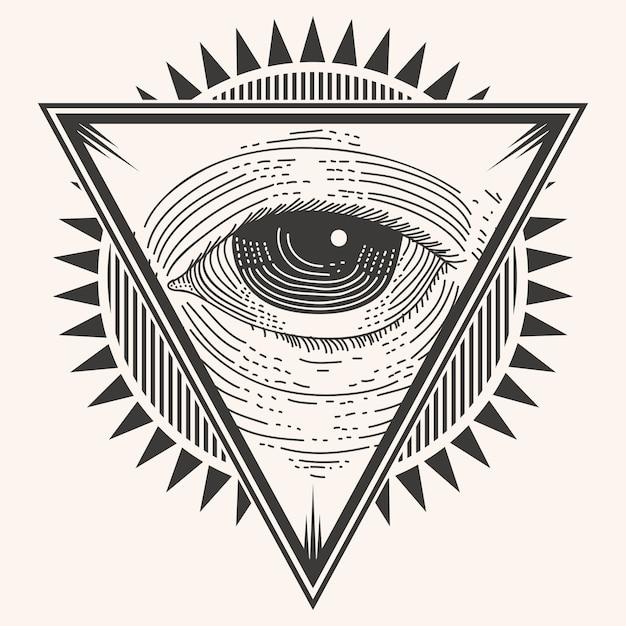 Значок одного глаза Premium векторы