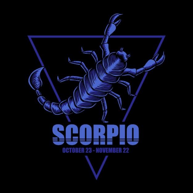 Скорпион зодиака иллюстрация Premium векторы