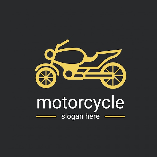 オートバイのロゴのテンプレート Premiumベクター