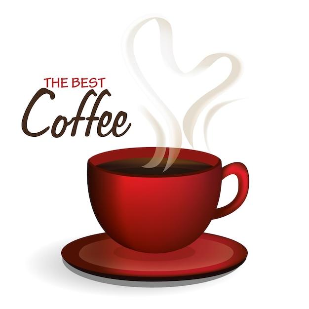 コーヒーベクトルデザインイラスト Premiumベクター