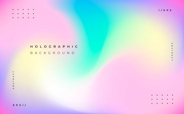 抽象的なホログラフィック背景 無料ベクター