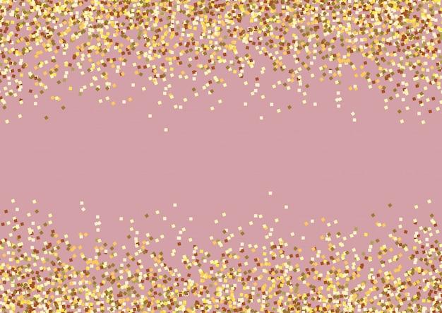 黄金の背景のお祝い Premiumベクター