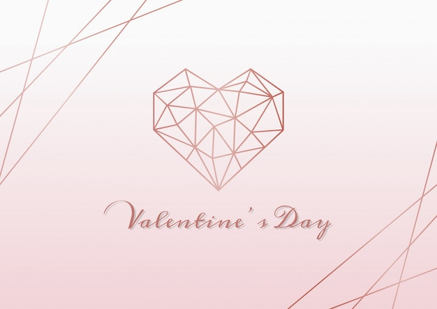 С днем святого валентина розовый фон Premium векторы