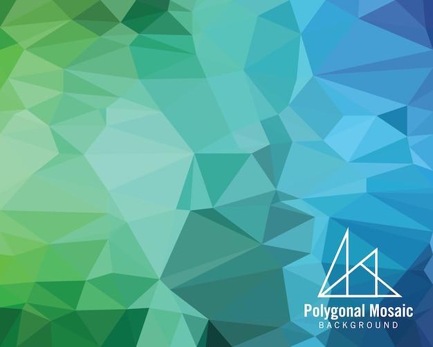 Голубой фиолетовый полигональный мозаичный фон Premium векторы