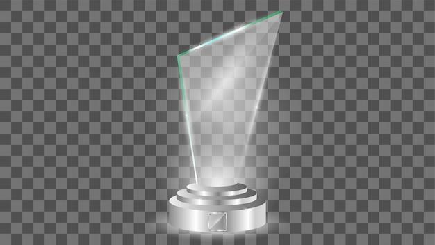 ガラス賞テンプレート、透明な分離 Premiumベクター