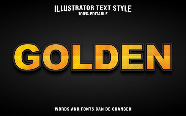 Шаблон стиля шрифта текста - золотой Premium векторы