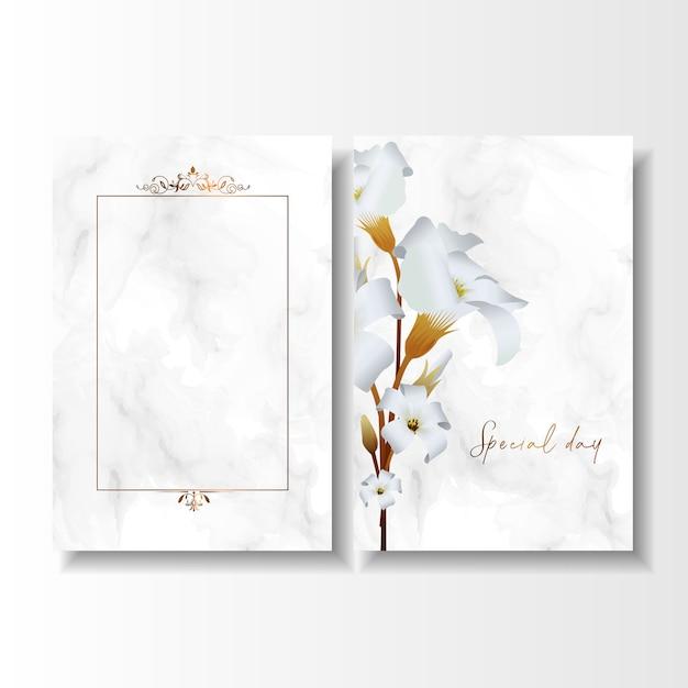 日付の特別な日の結婚式の誕生日カードを保存する Premiumベクター