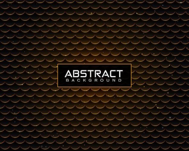 光沢のある金色のドット&粒子と抽象的な豪華な背景パターン Premiumベクター
