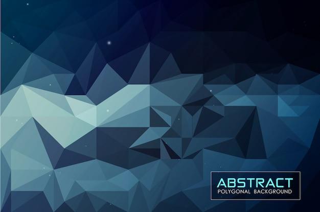 抽象的な暗い青低ポリ背景 Premiumベクター