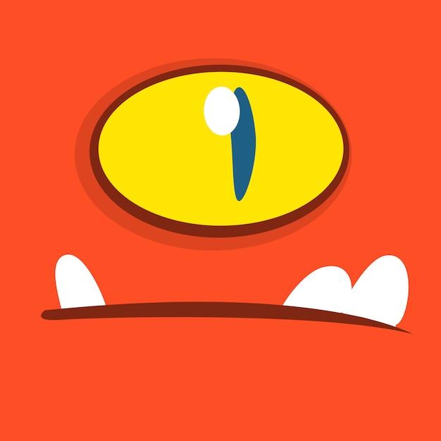 漫画のモンスターの顔のアバター。ハロウィンモンスター Premiumベクター