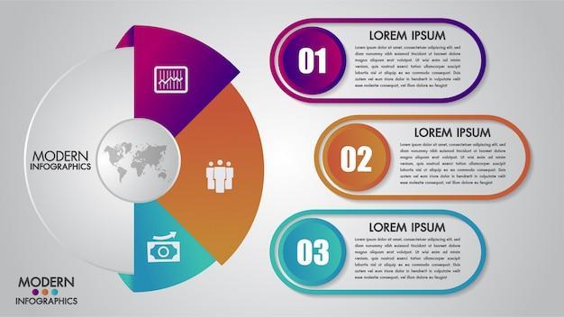 Шаблон бизнес инфографики для диаграммы Premium векторы