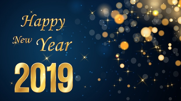Новый год размытый фон Premium векторы