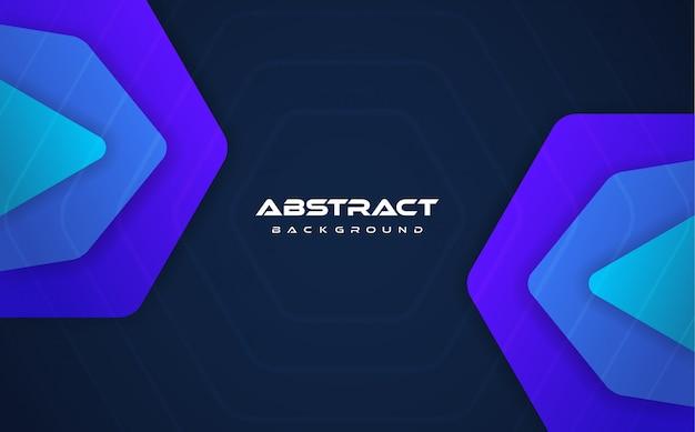 青のグラデーションの抽象的な背景 Premiumベクター