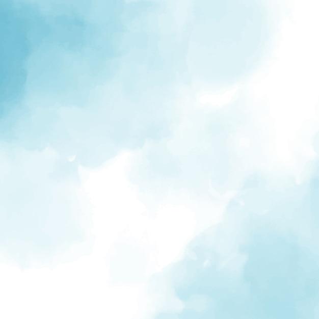 青い水彩正方形の背景 Premiumベクター