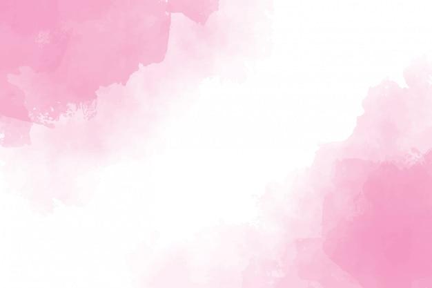 ピンクの水彩ウェットスプラッシュ背景絵画 Premiumベクター