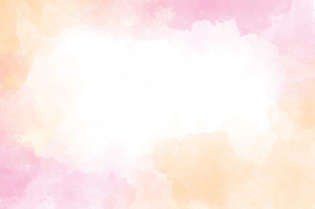 ピンクとゴールドのウェットウォッシュスプラッシュ水彩フレームの背景 Premiumベクター