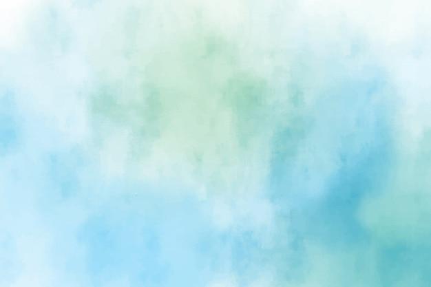 青と緑の水彩画 Premiumベクター
