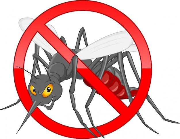 蚊漫画を停止します。 Premiumベクター