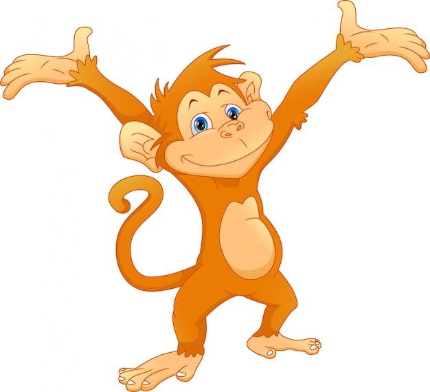 かわいい猿の漫画 Premiumベクター