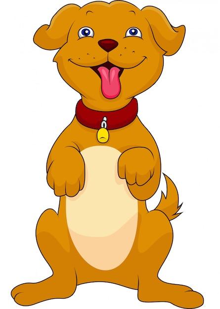 Милый мультфильм собака Premium векторы