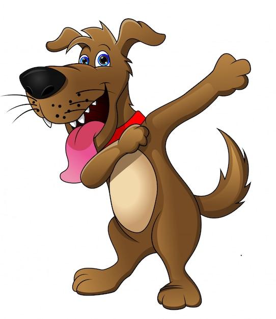 かわいい犬の漫画 Premiumベクター