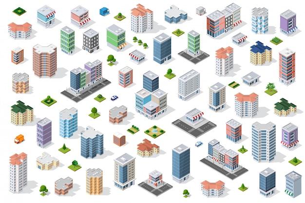 市街地を設定する Premiumベクター
